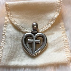 James Avery Retired Heart Cross Pendant!!